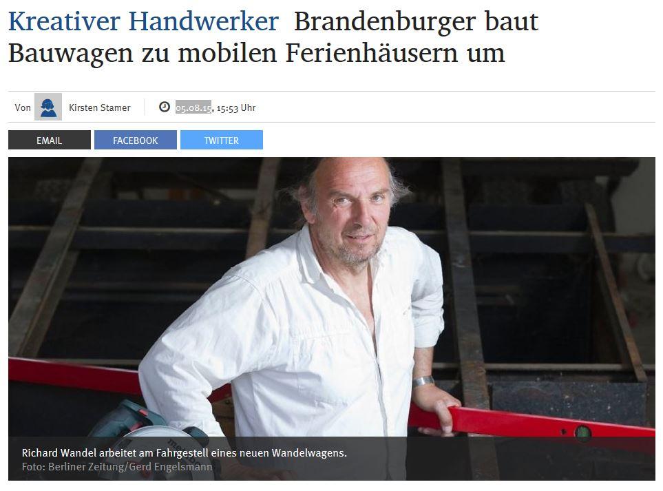 WandelWagen in der Berliner Zeitung