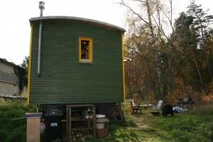 Wohnwagen Außenbereich