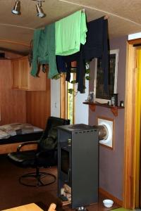 Wäschetrocknen ist im Winter ist in 40 Minuten erledigt.
